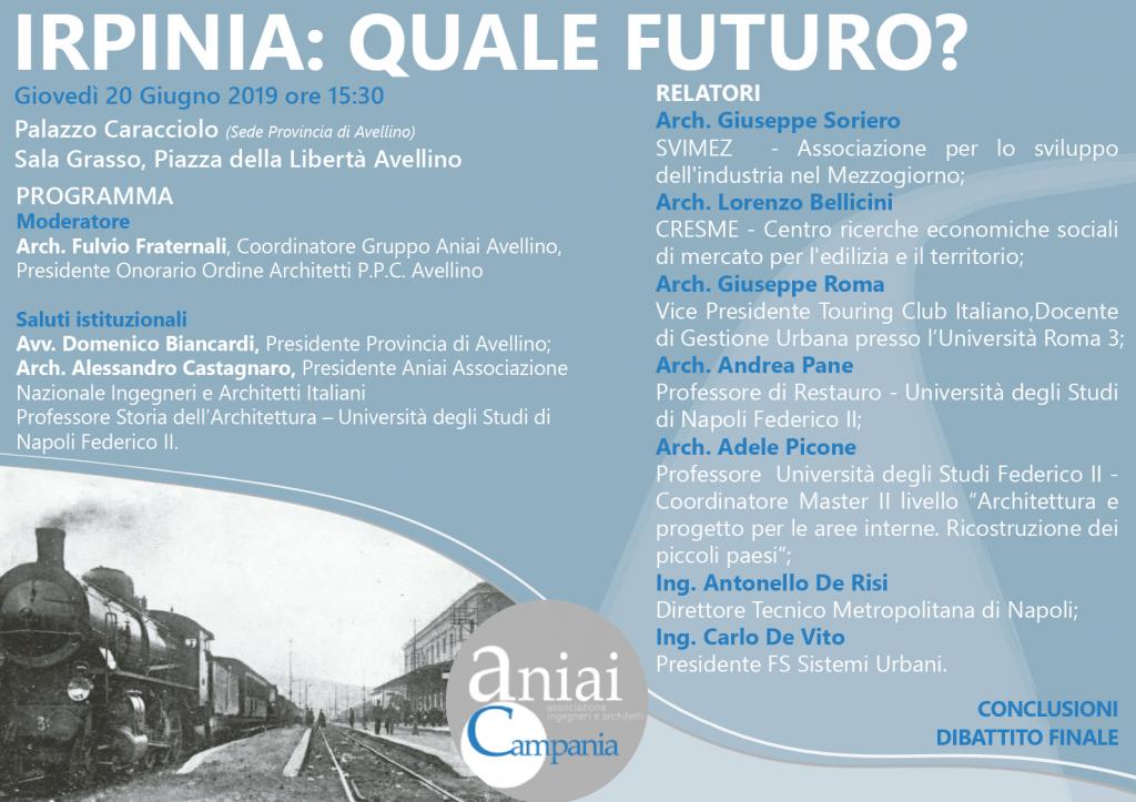 Irpinia: quale futuro? – 20 giugno 2019 – Palazzo Caracciolo – Avellino